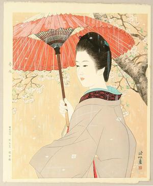 Ito Shinsui: Spring Rain — 春雨 - Japanese Art Open Database