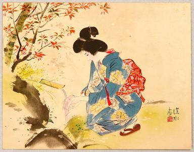 Ito Shinsui: Washing - Japanese Art Open Database