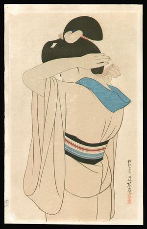 伊東深水: Woman in a Long Undergarment - Japanese Art Open Database