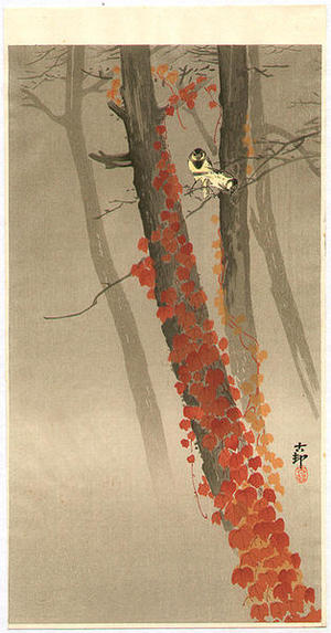 Shoson Ohara: Birds and Red Ivy - Japanese Art Open Database