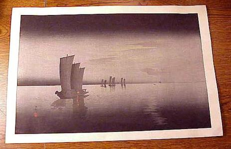 Shoson Ohara: Boats At Night - Japanese Art Open Database