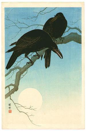 Shoson Ohara: Crows in Moonlight - Japanese Art Open Database