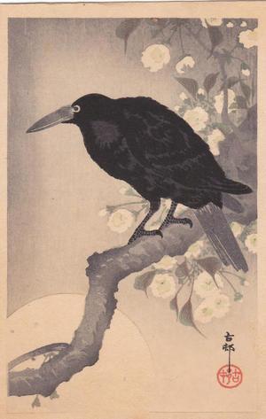 Shoson Ohara: Raven in Spring - Japanese Art Open Database