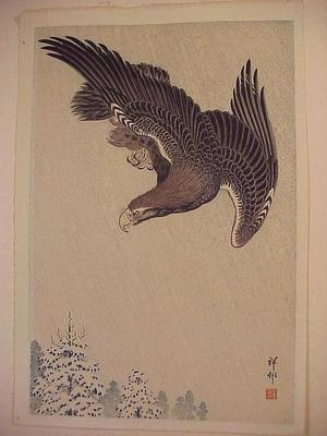 Shoson Ohara: An Eagle in a Snowstorm - Japanese Art Open Database