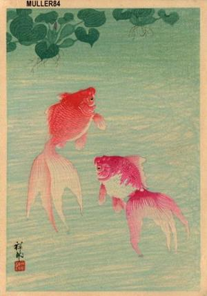 Shoson Ohara: Two Goldfish - Japanese Art Open Database