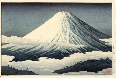 Shotei Takahashi: Near Omuro — Omuro fukin - Japanese Art Open Database
