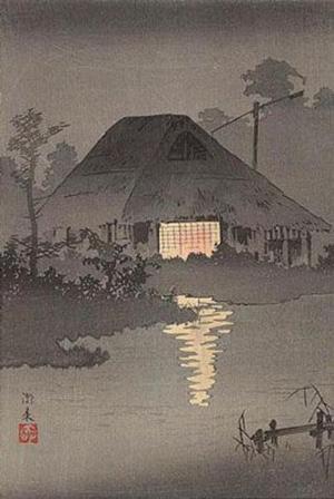 Shotei Takahashi: C17- Night Scene at Itako - Japanese Art Open Database