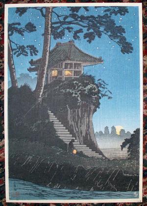 Shotei Takahashi: C7- Moonrise at Tokumochi - Japanese Art Open Database