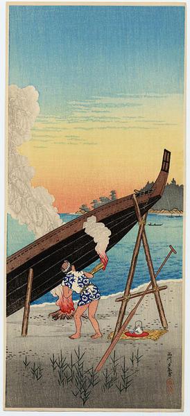 Shotei Takahashi: Evening Calm at Shinagawa - Japanese Art Open Database