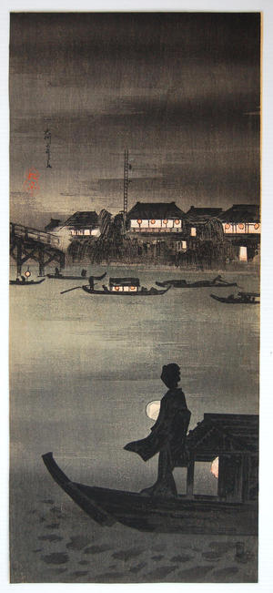 Shotei Takahashi: Evening Cool at Okawa - Japanese Art Open Database
