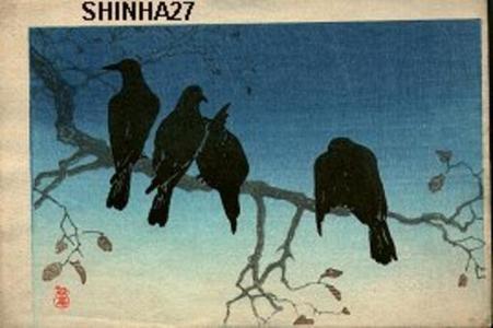 Shotei Takahashi: Four Crows - Japanese Art Open Database