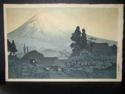 Shotei Takahashi: Fuji From Mizukubo, Evening Scene - Japanese Art Open Database