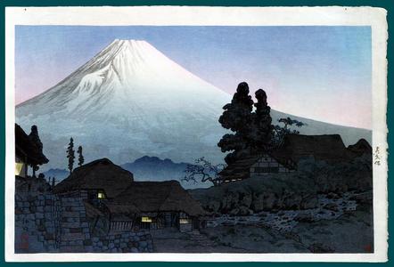 Shotei Takahashi: Fuji From Mizukubo, Evening Scene - Japanese Art Open Database