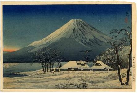 Shotei Takahashi: Fuji from Lake Yamanaka - Japanese Art Open Database