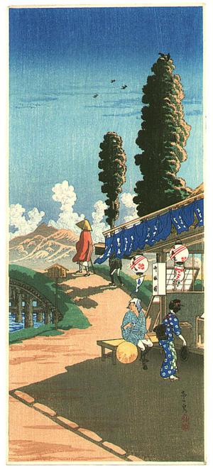 Shotei Takahashi: Kyo no Izumi- Tea Shop at Nakaizumi - Japanese Art Open Database
