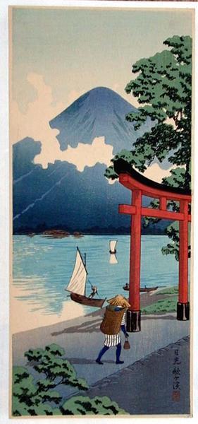 Shotei Takahashi: Lake at Nikko - Japanese Art Open Database