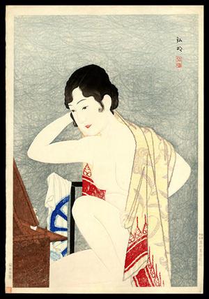 Shotei Takahashi: Make-up Before the Mirror - Japanese Art Open Database