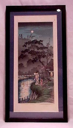 Shotei Takahashi: Moon at Sekiguchi - Japanese Art Open Database