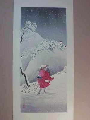 Shotei Takahashi: Mountain Path In Snow At Twilight - Japanese Art Open Database