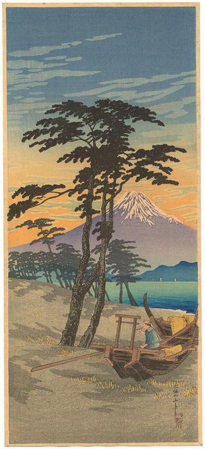 Shotei Takahashi: Mt Fuji from Miho - Japanese Art Open Database