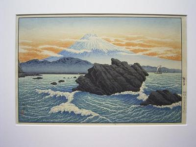 Shotei Takahashi: Mt Fuji from Okitsu - Japanese Art Open Database