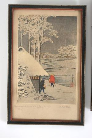 Shotei Takahashi: Night Snow at Ikegami - Japanese Art Open Database