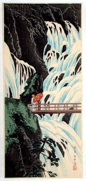 Shotei Takahashi: Nikko Shirakumo Waterfall — 日光白雲瀧 - Japanese Art Open Database