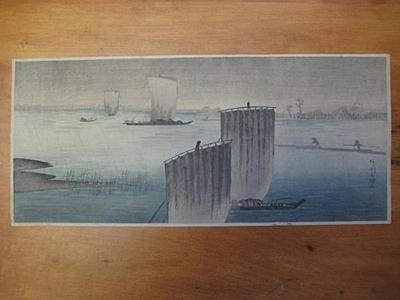Shotei Takahashi: Rain at Arakawa - Japanese Art Open Database