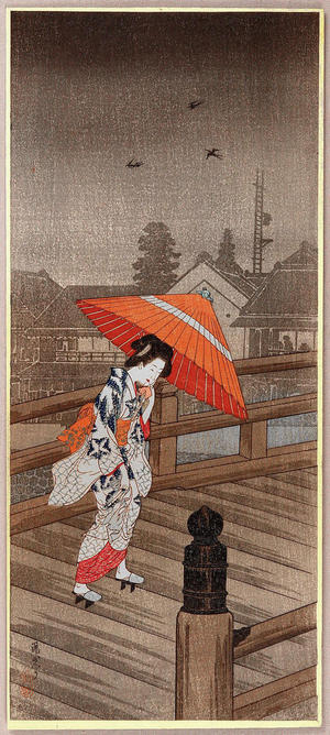 Shotei Takahashi: Returning from the Bath- Yugaeri — 湯帰り - Japanese Art Open Database
