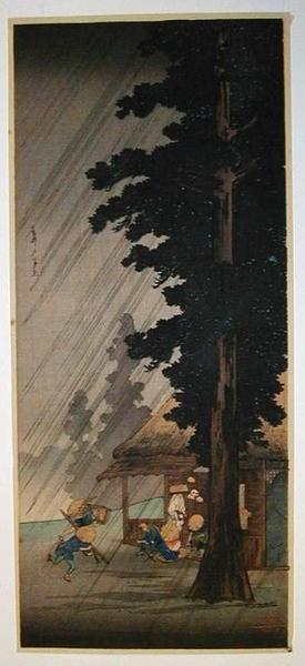 Shotei Takahashi: Sudden Shower at Takaido- Post quake - Japanese Art Open Database