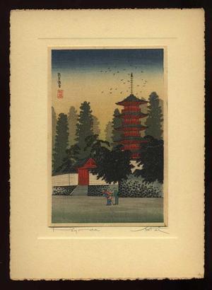 Shotei Takahashi: Temple of Kinugasa - Japanese Art Open Database