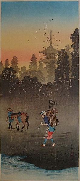 Shotei Takahashi: The Evening Bell - Japanese Art Open Database