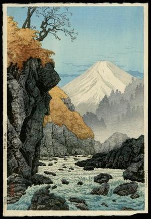 Shotei Takahashi: The Foothills of the Mountains, Ashitakayama- Autumn — 愛鷹山山・(秋) - Japanese Art Open Database