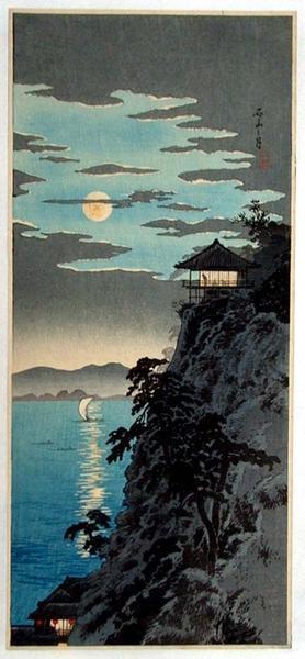 Shotei Takahashi: The Moon and Ishiyama - Japanese Art Open Database