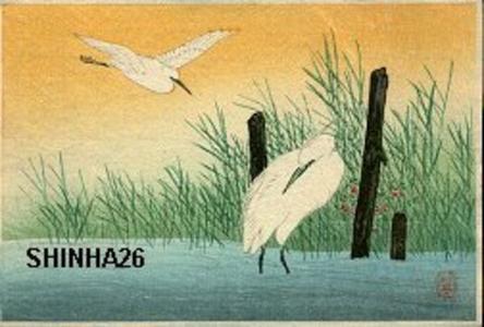 Shotei Takahashi: Two Egrets - Japanese Art Open Database