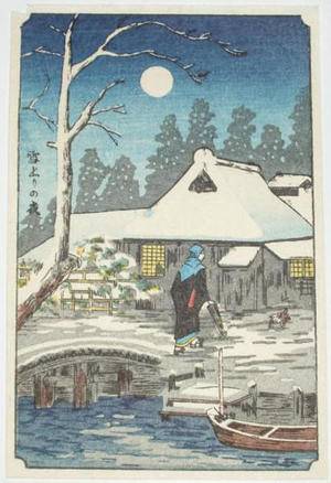 Shotei fake: Evening, After the Snow — 雪上りの夜 - Japanese Art Open Database