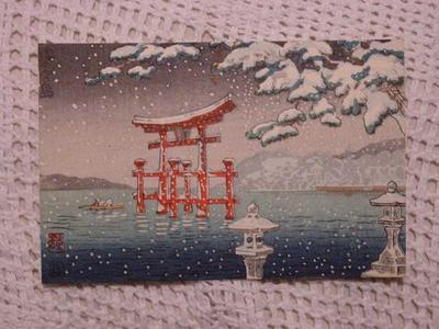 Shunho: Miyajima in Snow - Japanese Art Open Database