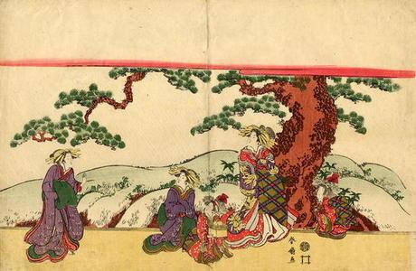 Katsukawa Shunsen: The Sudden Shower - Japanese Art Open Database