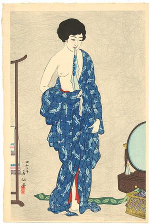 Natori Shunsen: After a bath - Japanese Art Open Database