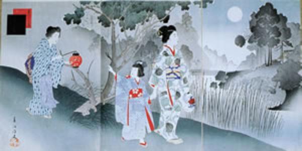 宮川春汀: August — 其八 名月 - Japanese Art Open Database