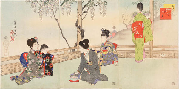 宮川春汀: May — 其五藤見 - Japanese Art Open Database