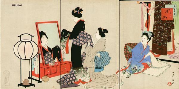 宮川春汀: November — 其十一 嫁入 - Japanese Art Open Database