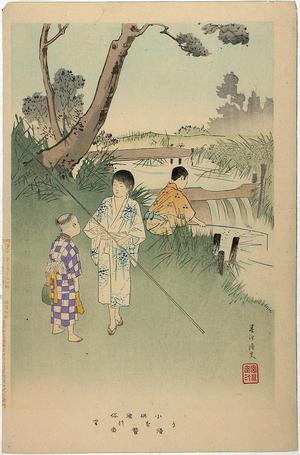 宮川春汀: Fishing — Uo-tsuri - Japanese Art Open Database