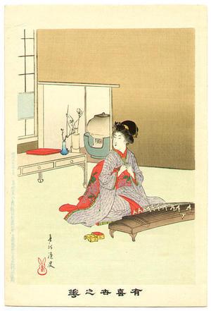 宮川春汀: Koto — 琴 - Japanese Art Open Database