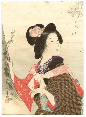 Suzuki Kason: Cherry Blossom Hunting - Japanese Art Open Database