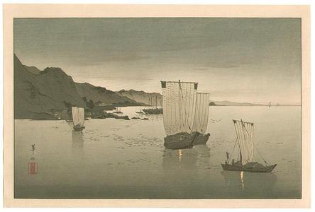 Suzuki Kason: Kominato Harbor - Japanese Art Open Database