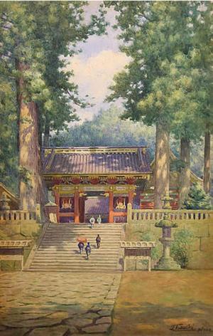 Tabuchi Janse: Temple at Mount Nikko - Japanese Art Open Database