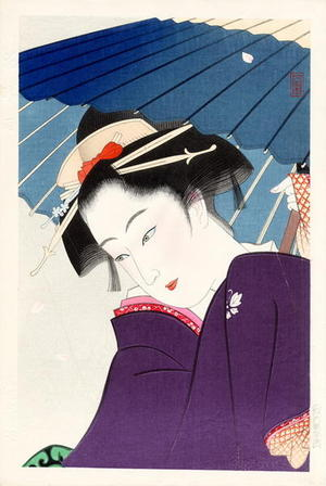 Tadakiyo: Bijin and Umbrella - Japanese Art Open Database