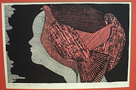 Kasamatsu Shiro: Hair Bird - Japanese Art Open Database