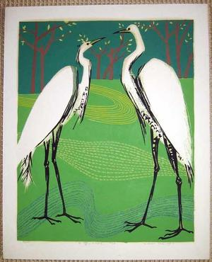 Kasamatsu Shiro: Herons - Japanese Art Open Database